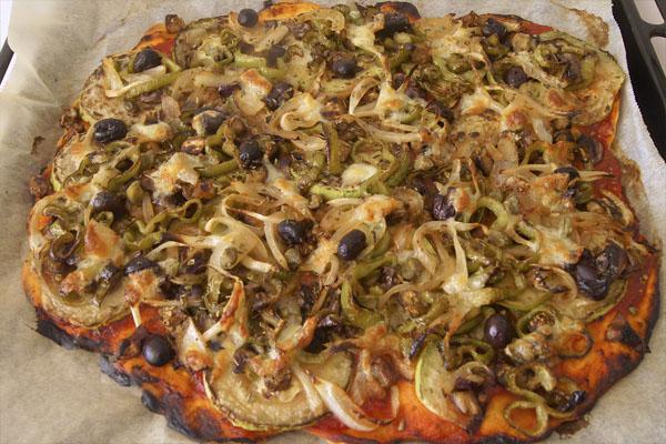 Receta de pizza vegetariana