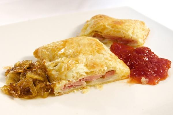 Receta de pastel de cebolla y jamón