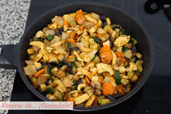 Verduras y pollo para el cous cous