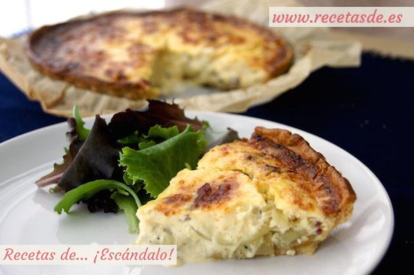 Quiche de jamón ibérico, cebolla caramelizada y queso manchego