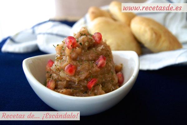 Baba ganoush y pan de pita casero