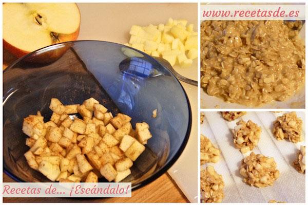 Cómo hacer galletas de avena, manzana y nueces