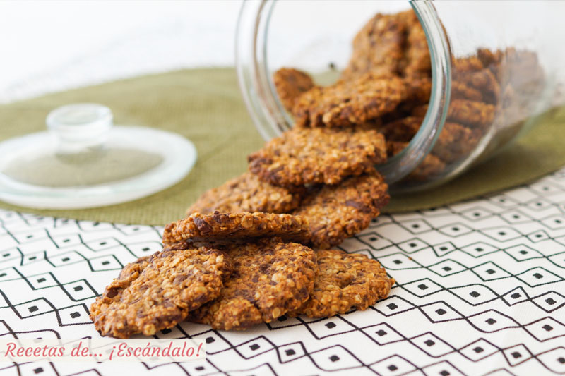 Galletas caseras de avena con chocolate