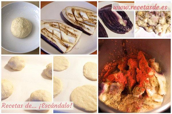Receta de baba ganoush y pan de pita casero