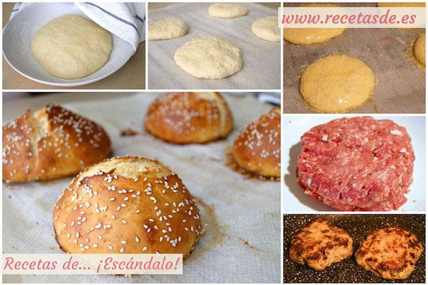 Receta de hamburguesas caseras con queso roquefort y granada