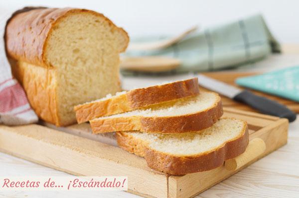 Receta de pan de molde casero y facil
