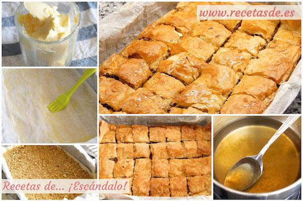 Cómo hacer la receta de baklava