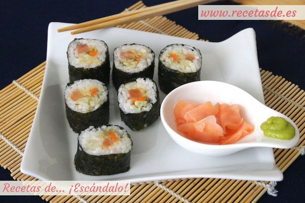 Receta de maki sushi