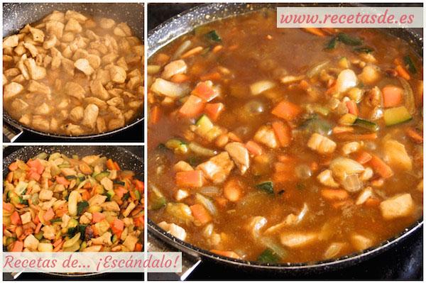 Cómo hacer pollo con almendras al estilo chino