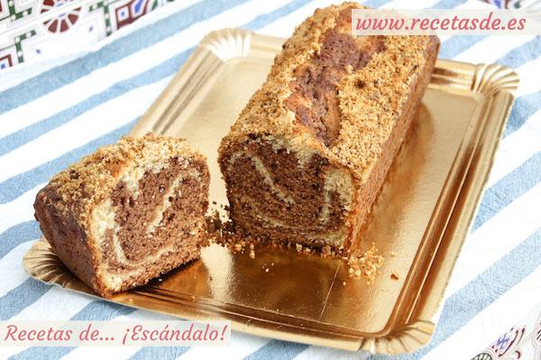 Receta de bizcocho marmolado de yogur y Nutella, muy esponjoso