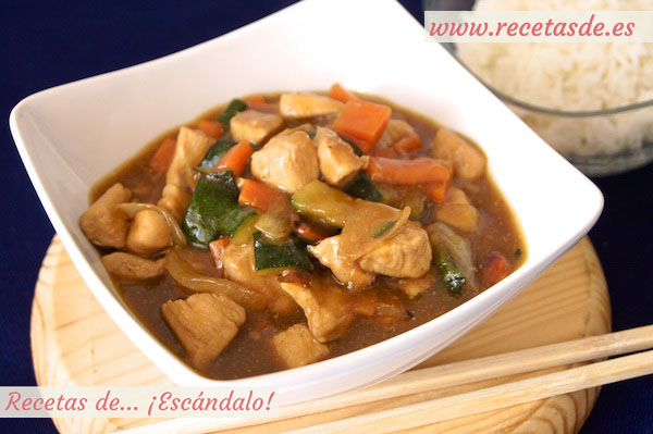 Receta de pollo con almendras al estilo chino