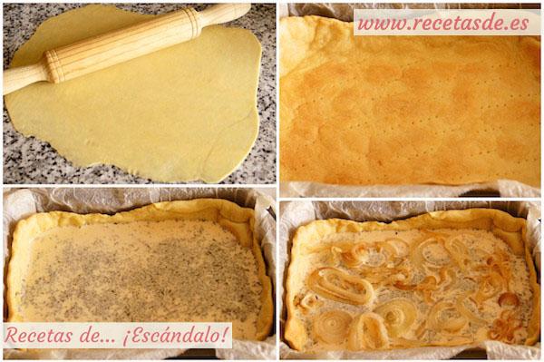 Cómo hacer quiche lorraine con cebolla, la quiche alsacienne
