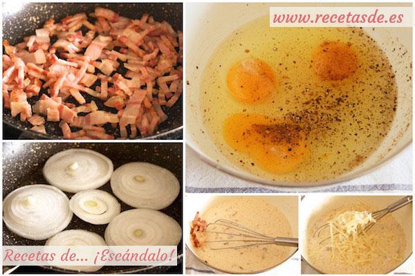 Cómo preparar quiche lorraine con cebolla, la quiche alsacienne