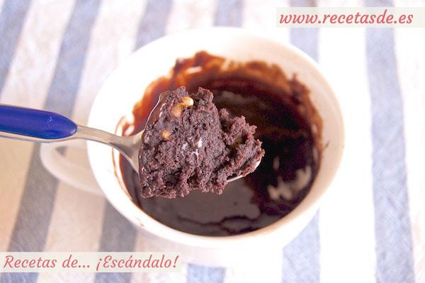 ReceMug cake brownie de chocolate y nueces al microondas en tazata de mug cake brownie de chocolate y nueces al microondas en taza