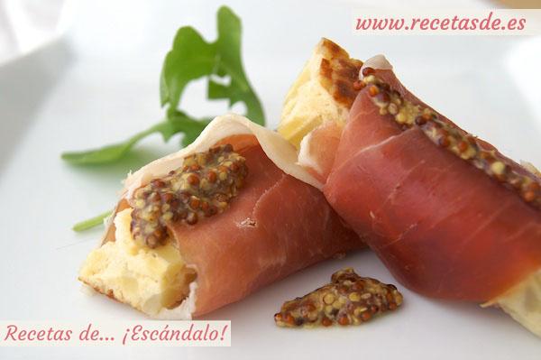 Entrantes aperitivos y canap s para navidad f ciles y for Canape de jamon y queso
