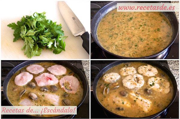 Merluza en salsa verde con almejas muy f cil recetas de for Como preparar almejas en salsa