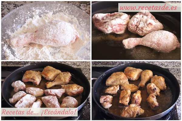 Cómo preparar pollo en pepitoria. Receta tradicional