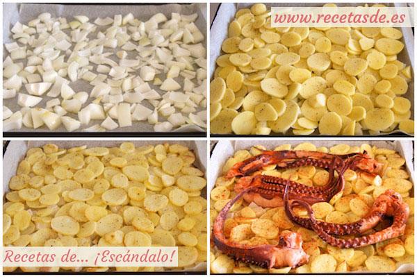 Cómo preparar pulpo al horno con patatas al estilo murciano