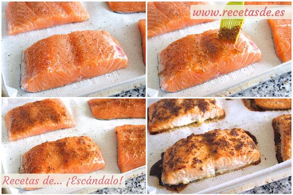 Cómo hacer salmón al horno con salsa de mostaza y miel