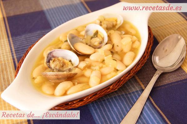 Fabes con almejas. Receta tradicional asturiana