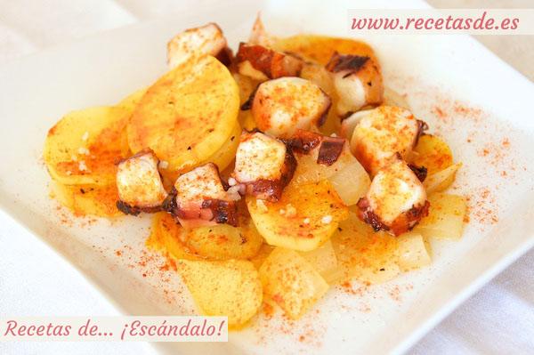 Receta de pulpo al horno con patatas al estilo murciano