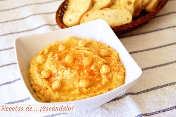 Receta de hummus, crema de garbanzos