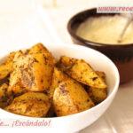 Patatas deluxe o patatas gajo asadas al horno, con su salsa