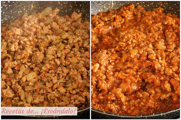 Como preparar la receta de macarrones con chorizo, tomate y queso