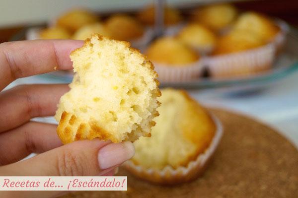 Receta tradicional de magdalenas caseras y esponjosas