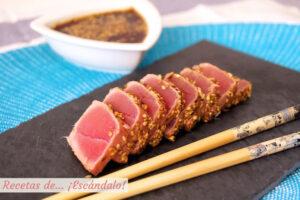 Tataki de atun rojo con sesamo