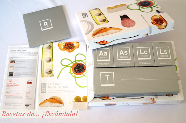 Kit de gastronomia molecular