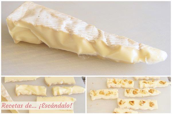 Receta de queso brie con nueces