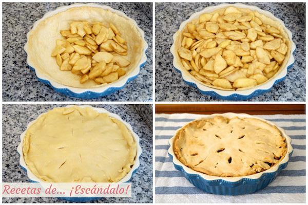 Relleno de la tarta de manzana americana