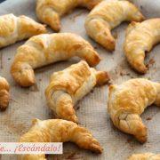 Croissants de hojaldre rellenos de Nutella