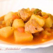 Marmitako de bonito, receta facil y a fuego lento