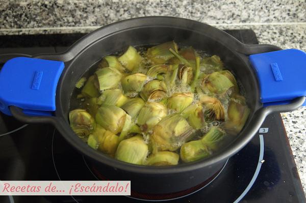 Cocer las alcachofas