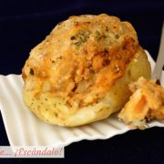 Patatas rellenas de carne picada al horno