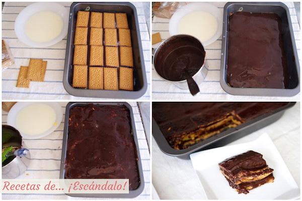 Tarta De La Abuela Tarta De Chocolate Galletas Y Natillas Muy Fácil