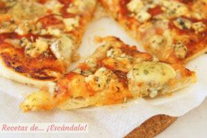 Receta de pizza 4 quesos con masa de pizza casera y facil
