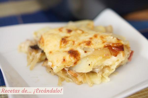 Receta de patatas al horno gratinadas o tartiflette