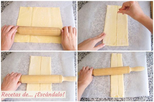 Como preparar palmeritas de hojaldre con chocolate