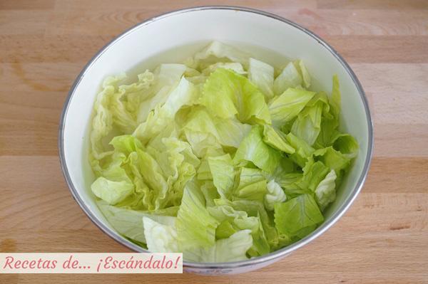 Lechuga para la ensalada cesar