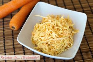 Como hacer ensalada de col y zanahorias americana o coleslaw