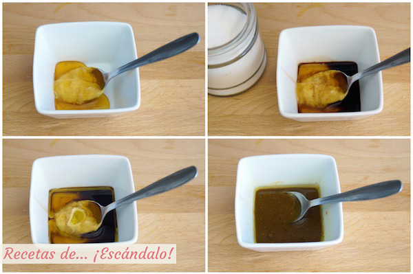 Preparando la inagreta de miel