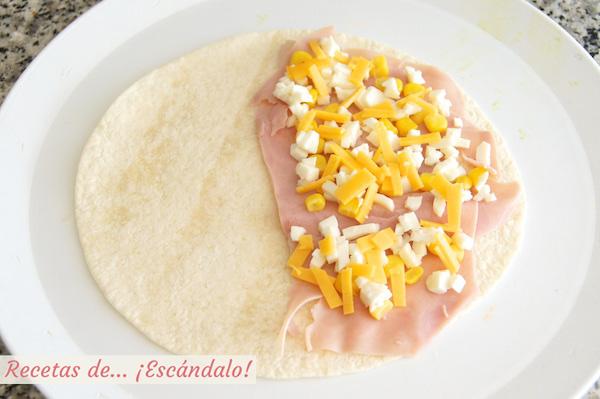 Quesadillas de jamon y queso