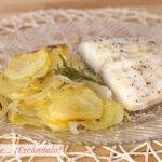Bacalao al horno con patatas y cebolla, receta facil