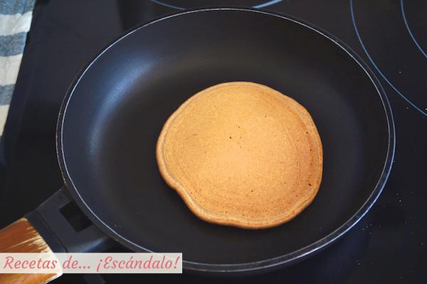 Tortita de avena recien hecha