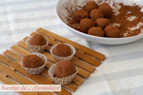 Como hacer trufas de chocolate caseras y muy facil
