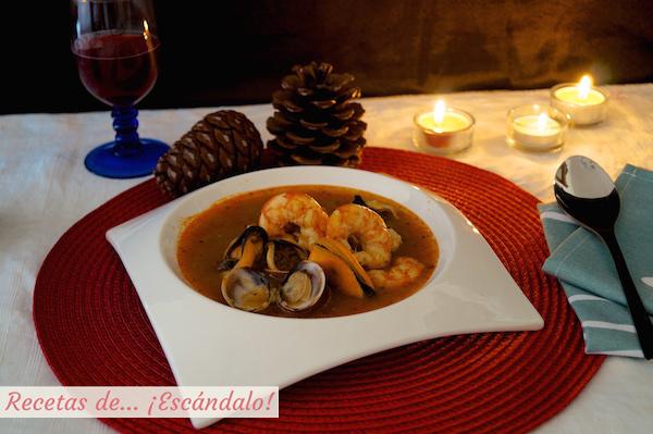 Receta de sopa de marisco facil y casera