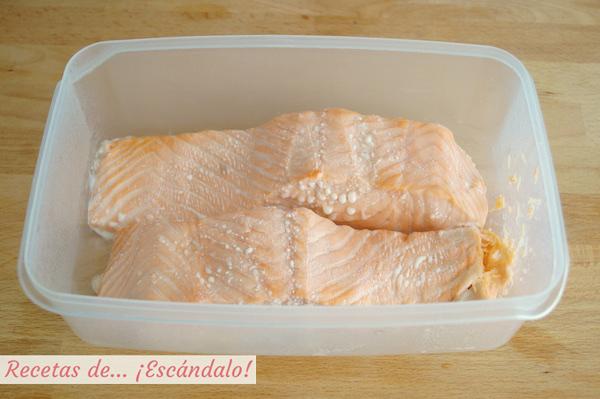 Salmon al microondas